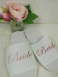 Personalised Spa Slippers Wedding Party Bridesmaid Gifts Special Occasion