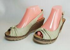 Patrizia Spring Step Soraya Womens Wedge Sling Back Beige Sandals Ladies