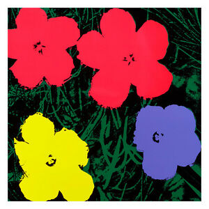 Flowers 1964 10 by Andy Warhol 54cm x 54cm High Quality Art Print
