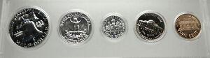 1961 UNITED STATES US Half Dollar Quarter Dime Proof 5 Coin Set 3 Silver i76365