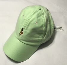 Polo Ralph Lauren  Men's Pony Cotton Oxford Baseball Cap Sport Hat Green NWT