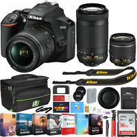 Nikon D3500 24.2MP DSLR Camera w/ 18-55mm VR Lens & 70-300mm Lens + 16GB Bundle