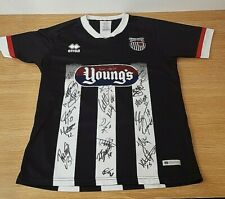 Signed Grimsby Town FC Football Shirt 20/21 Charity Auction Size L