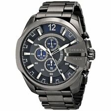Diesel Men's DZ4329 Mega Chief Chronograph Blue Dial Grey Stainless Steel Watch