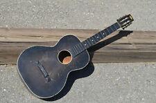 Rare Black OAHU Publishing Co. 6 Sring Acoustic Guitar HAWAIIAN SLIDE STYLE