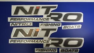 """Nitro boats Emblems 33"""" + FREE FAST delivery DHL express - raised decal stickers"""