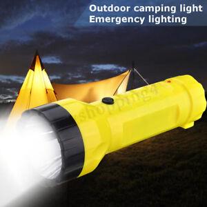 Solar Power Rechargeable Portable LED Flashlight Camping Hike Light Lantern   R