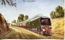 Express Train DEVON BELLE 34001 EXETER 1950s Photochrom postcard