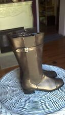 A. J. Valenci Comfort  Metallic Brown Leather Knee High Boots  Size 7.5  NEW