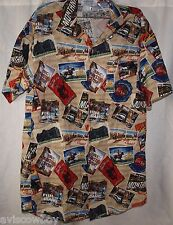 Empire Uniform Canadian Rockies Pendleton Montana Idaho Postcard Shirt Men's XS