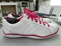 Footjoy LoPro 97246 White Pink Leather Spikeless Golf Shoes Womens  Size 10M