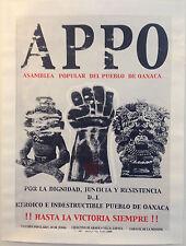 Asamblea Popular Del Pueblo De Oaxaca (APPO) Silkscreen Poster (2006)