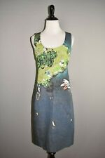 AKRIS PUNTO $1290 Surfer Print Sleeveless Scoop Neck Sheath Dress Size 6
