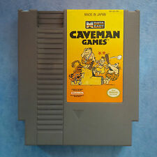 CAVEMAN GAMES NINTENDO NES 1990 TESTED ACTUAL PICTURES *REAL* GOOD