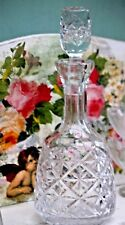 crystal decanter Xmas drinks vintage hand cut star pattern  Quality bottle