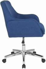 Flash Furniture Rochelle Home & OfficeBlue Fabric Mid-Back Chair New