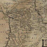 Syria Antioch Mesopotamia Holy Land Phoenicia 1694 Bunonis Heirs rare map