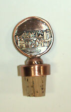 Judaica Bottle Cork Stopper Jerusalem Old City Relief Israel Amulet Charm Copper