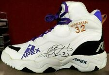 Apex Karl Malone Game Worn Signed Basketball Autographed Sneaker