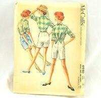 1950s Sewing Pattern Vtg McCalls Shorts Shirt 4440 Misses Sz 14 Bust 34 Uncut