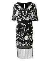 Joanna Hope Women's Black Beaded Kimono Midi Dress Size UK 18 New With Tags