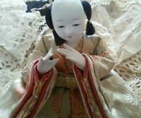 Vintage Ningyō Japanese Doll Male Japan Asian Dolls Traditional Costume Hina