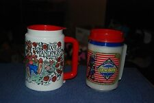 Vintage Lot Of (2) Aladdin&Whirley Thermal Insulated Hot/Cold Mugs/Cups Disney's