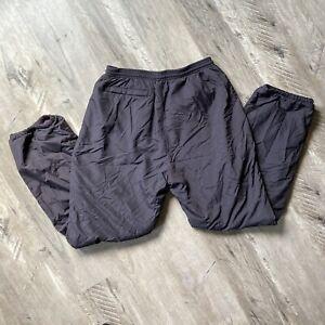 Vintage Black Snow Ski Pants Ultrex by Burlington Women's 14 Purple Lining