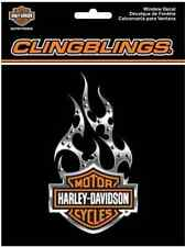 Decal: Harley-Davidson® Flame Cling Bling Static Window CG1121