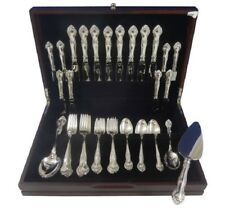 English Gadroon by Gorham Sterling Silver Flatware Set For 8 Service 43 Pieces