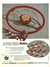 Publicité ancienne voiture volant Viraflex Quillery 1950 issue de magazine