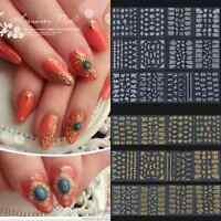 12 Design DIY Nail Art Tip Water Transfers Sticker Decal Manicure Decoration Zip