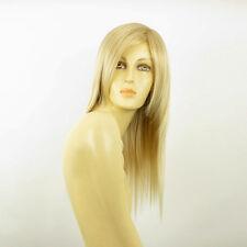 Perruque femme mi-longue blond doré méché blond très clair  HELOISE 24BT613