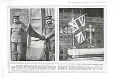 1915 TROFEO DI GUERRA catturato bandiera tedesca Artiglieria CANADESE colori a Westminster una