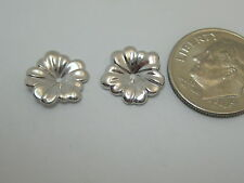 14K White Gold Small Flower Earring Jackets  S207 Made In USA