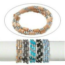 Wholesale 10* Memory wire and Cat's eye Glass mixed Bracelet