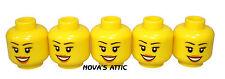 LEGO HEAD 5 x Femmina Smiley per pupazzetto nuovo