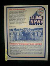 DODGERS ALUMNI NEWS - NOVEMBER, 1985 - VOLUME 3, NUMBER 1 - NEAR MINT CONDITION