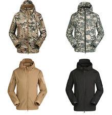 Camo Mens Military Windproof Soft Shell Fleece Ski Snowboard Outdoor Jacket Coat