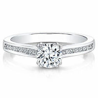 0.70 Carat Round Cut Diamond Rings 14K Real White Gold Ring Size M N J O K P I G