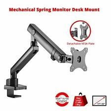 SIIG Mechanical Single Monitor Arm Mount - Desk Mount for 17in to 32in Screens
