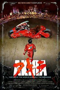 Akira (1988) Movie Poster Glossy 240gsm Size A1 A2 A3 A4 Framed& Unframed
