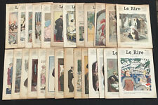 LOT de 26 JOURNAL LE RIRE n°351 à 574 - 1925/1930 - DESSIN DUBOUT/GIFFEY/O'GALOP