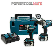 Makita DLX2176TJ Combi Drill And Impact Driver Kit c/w 2x 5.0Ah Batts & Charger