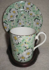 ROYAL ALBERT RARE LADY JANE SMALL CHINTZ  COFFEE CUP AND SAUCER GOLD TRIM
