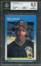 1987 fleer #604 BARRY BONDS pittsburgh pirates rookie card BGS 6.5 (5.5 9 8 9)
