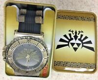 NIB Legend Of Zelda Triforce Watch Hyrule Crest Bronze Wristwatch Rare Cosplay