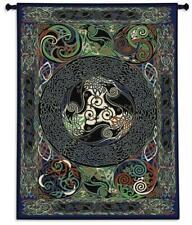 53x73 CELTIC RAVENS PANEL Irish Tapestry Wall Hanging