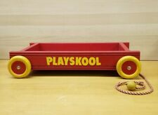 Vintage 1950's Playskool Red Pull Wagon Great Paint