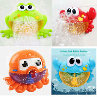 Baby Bath Toy Automatic Bubble Machine Children Kids Bathroom Bathtub Toys
